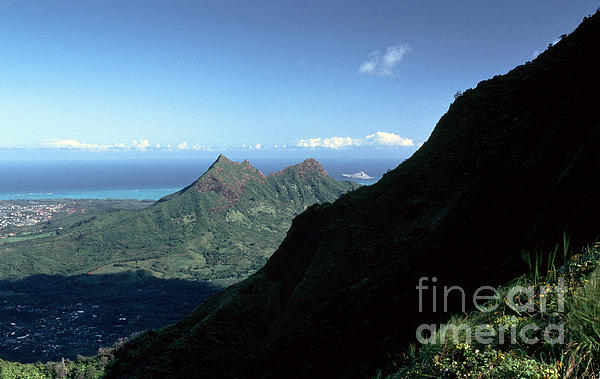 Windward Oahu From The Koolau Mountains Print by Thomas R Fletcher