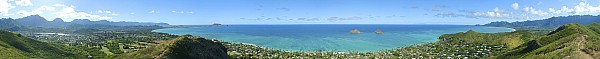 Windward Oahu Panoramic Print by David Cornwell/First Light Pictures, Inc - Printscapes