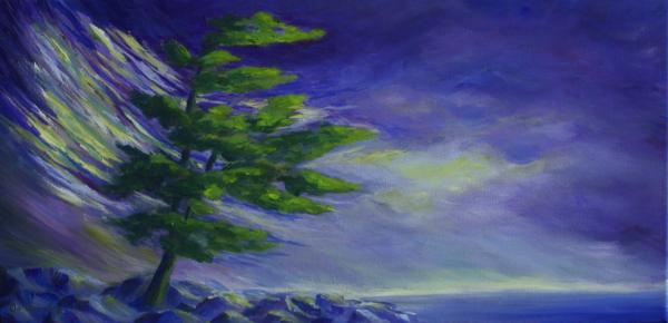 Windy Lake Superior Painting