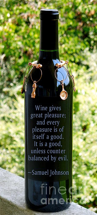Wine Gives Great Pleasure Print by Renee Trenholm