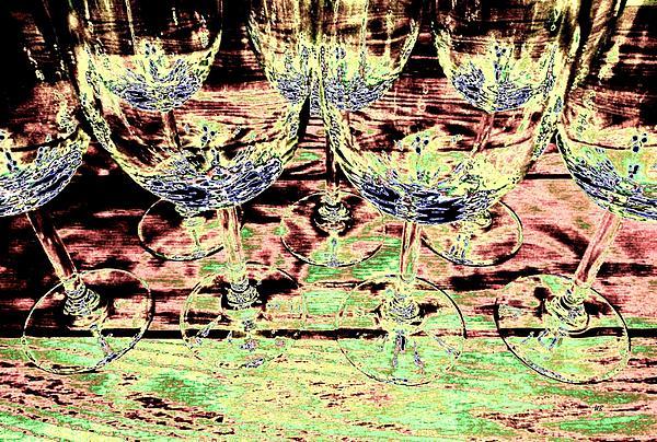 Wine Glasses Print by Will Borden