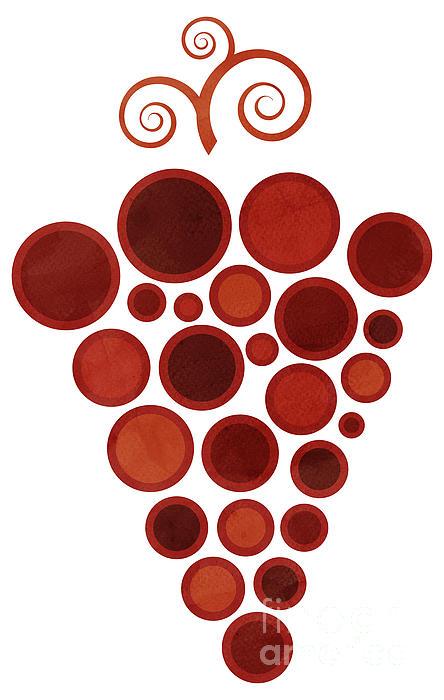 Wine Grape Print by Frank Tschakert