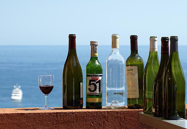 Wine In Mandatory In France Print by Chris Ann Wiggins