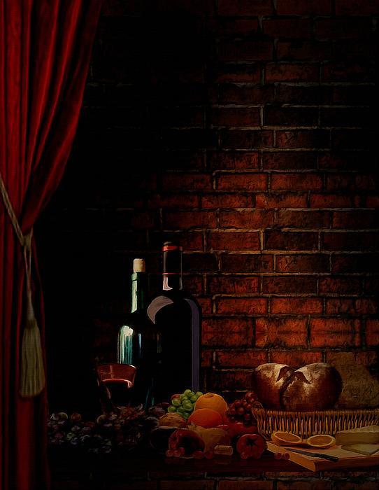 Wine Lifestyle Print by Lourry Legarde