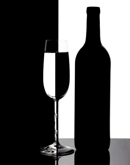 Wine Silhouette Print by Tom Mc Nemar