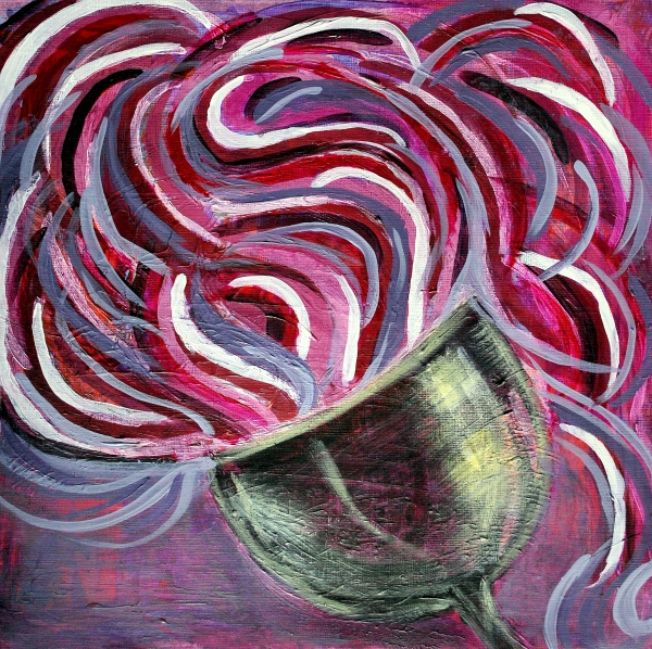 Wine Swirl Print by Janice Gelona