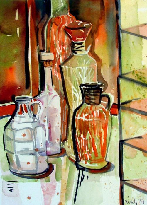 Wine Vinegar Print by Mindy Newman