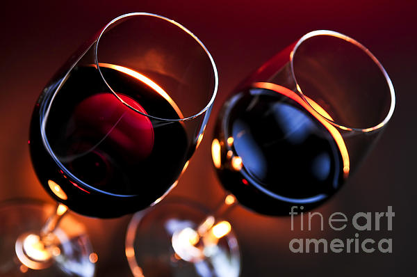 Wineglasses Print by Elena Elisseeva