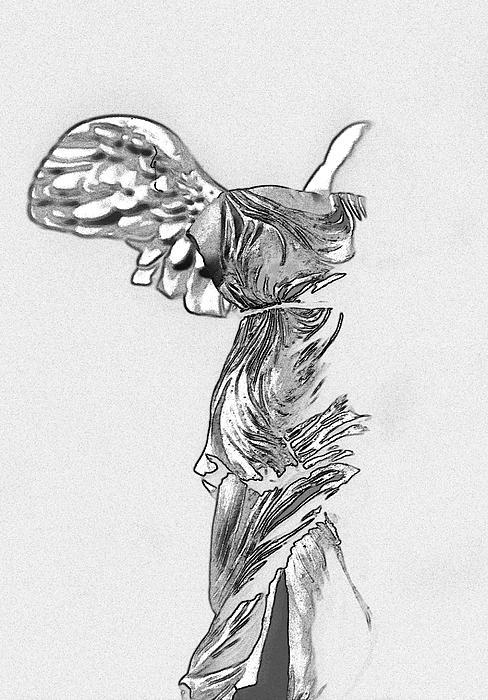 Winged Victory Of Samothrace Print by Manolis Tsantakis