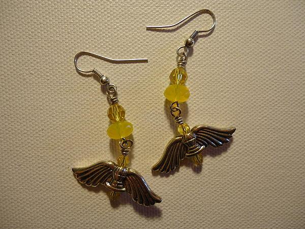 Wings Of An Angel Earrings Print by Jenna Green