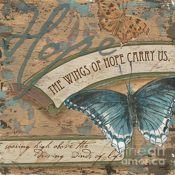 Wings Of Hope Print by Debbie DeWitt