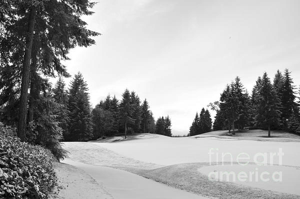 Winter Golf Course  2 Print by Tanya  Searcy