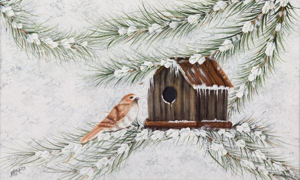 Winter Home  Painting  - Winter Home  Fine Art Print
