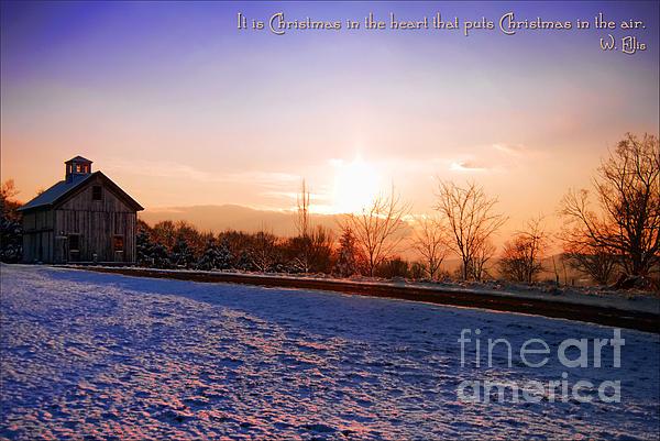 Winter Landscape Connecticut Usa Print by Sabine Jacobs
