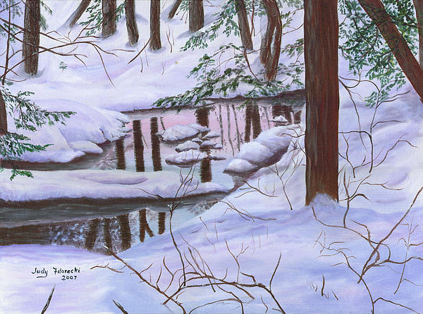 Winter Landscape Print by Judy Filarecki