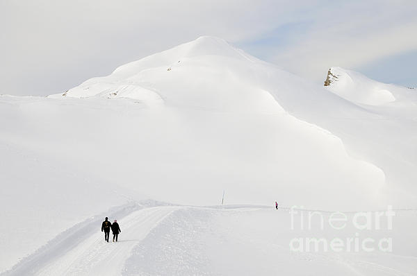 Winter Mountain Landscape With Lots Of Snow Print by Matthias Hauser