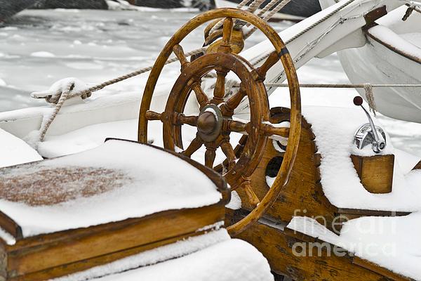 Winter On Board Print by Heiko Koehrer-Wagner