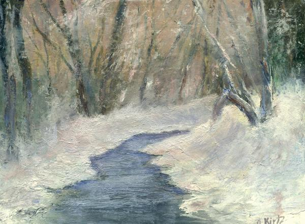 Winter On Stormcreek Print by Gail Kirtz