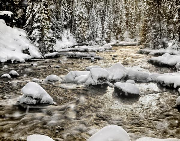 Winter River Print by Leland D Howard