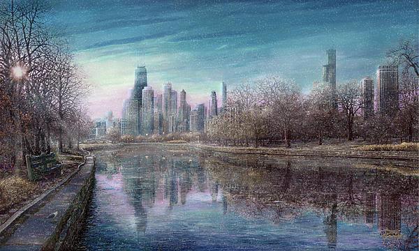 Winter Serenity Snow Print by Doug Kreuger