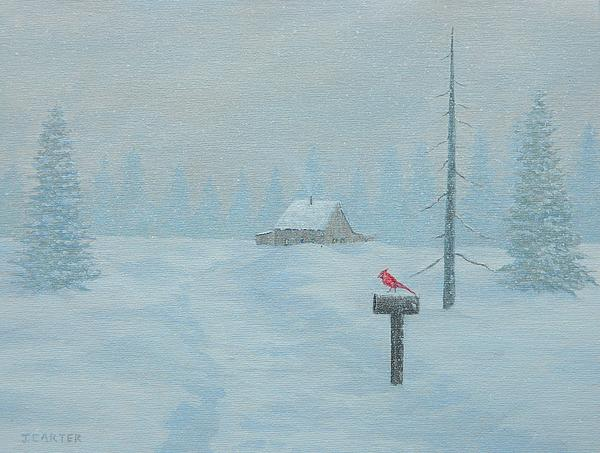 Winter Storm Carter Painting  - Winter Storm Carter Fine Art Print