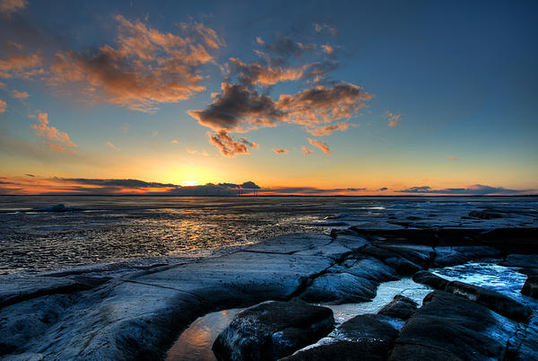 Winter Sunset Print by Micael  Carlsson