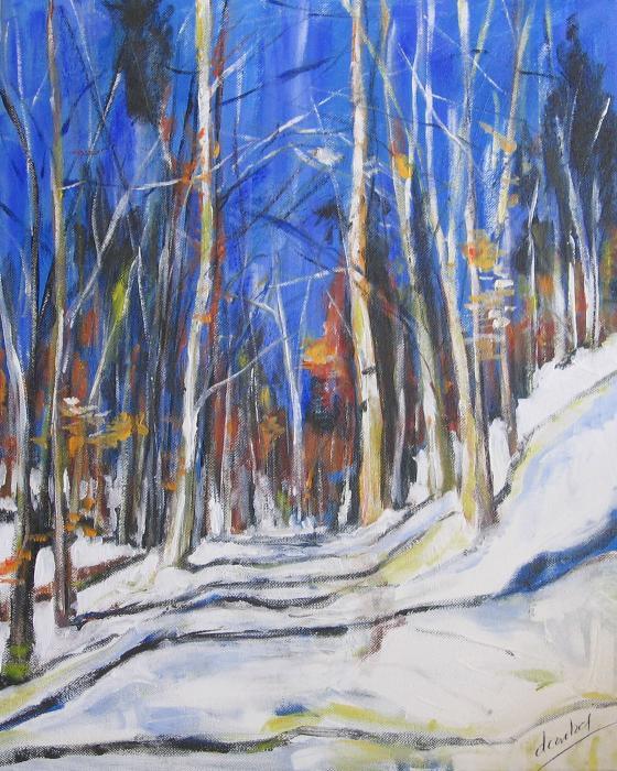 Winter Trees Print by Debora Cardaci