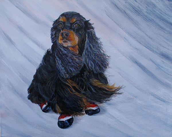 Winter Winds Painting  - Winter Winds Fine Art Print