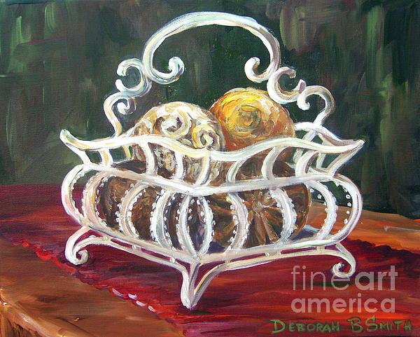 Wire Basket Print by Deborah Smith