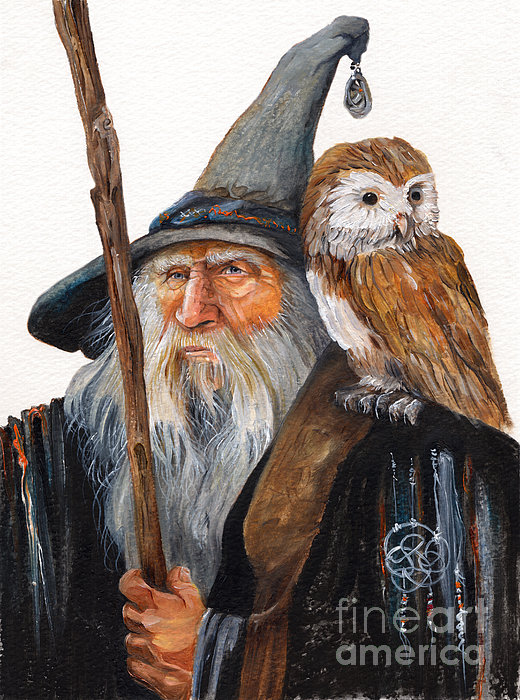 Wise Wizard Painting by J W Baker - Wise Wizard Fine Art Prints ...