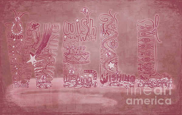 Wishing Well Breast Cancer Tribute Print by Laura Brightwood