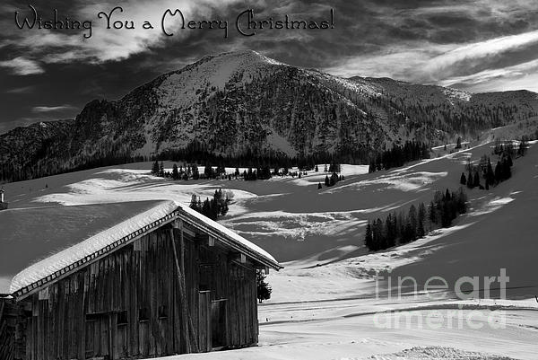 Wishing You A Merry Christmas Austria Europe Print by Sabine Jacobs