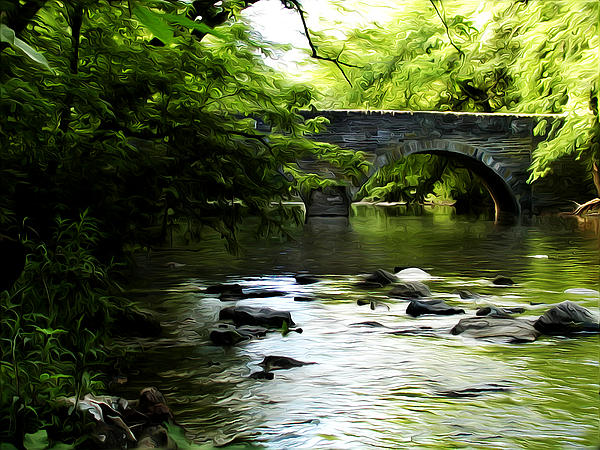 Wissahickon Bridge Print by Bill Cannon