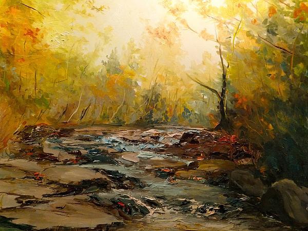 Wistful Waters Print by Sarah Jane Conklin