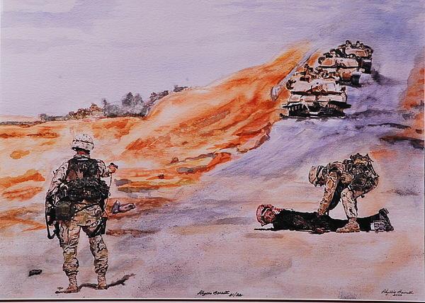 Witness Iraq Print by Phyllis Barrett