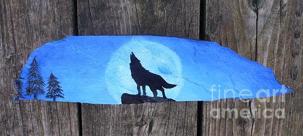 Wolf Howl1 Print by Monika Dickson-Shepherdson