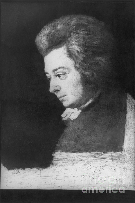 Wolfgang Amadeus Mozart, Austrian Print by Omikron