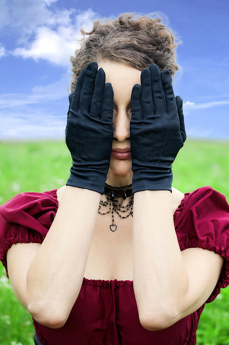 Woman Hiding Print by Joana Kruse