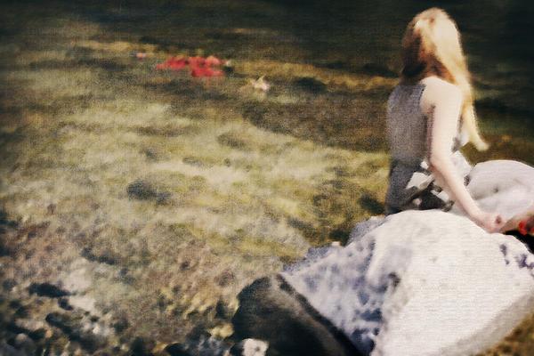 Woman In A River Print by Joana Kruse