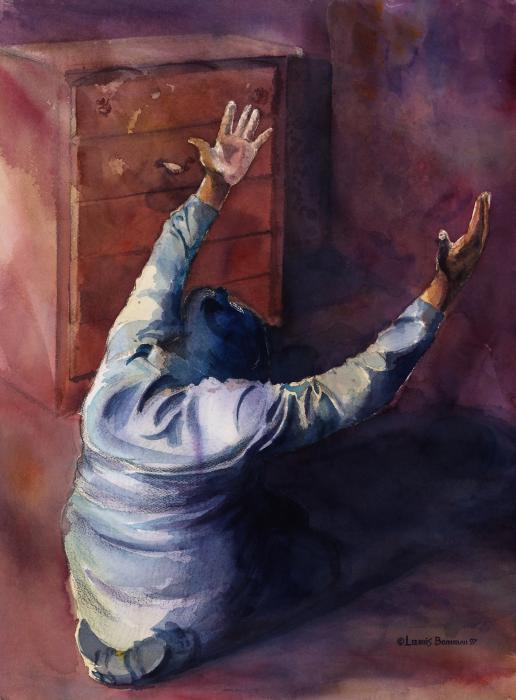 Woman Of Praise Print by Lewis Bowman