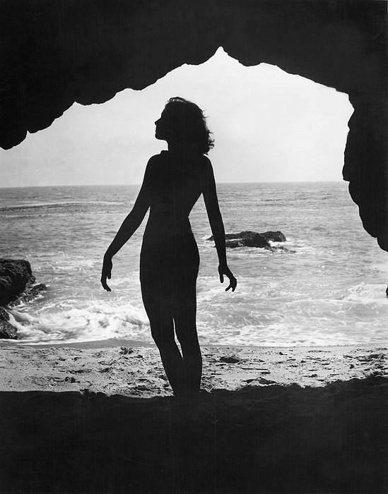 Woman On Beach Print by Sasha