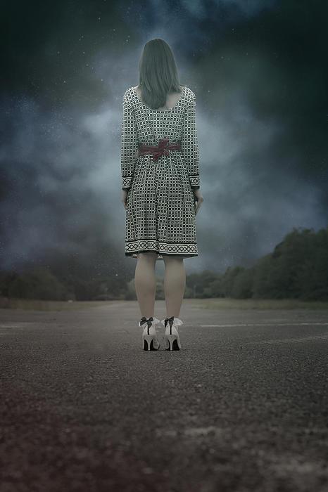 Woman On Street Print by Joana Kruse
