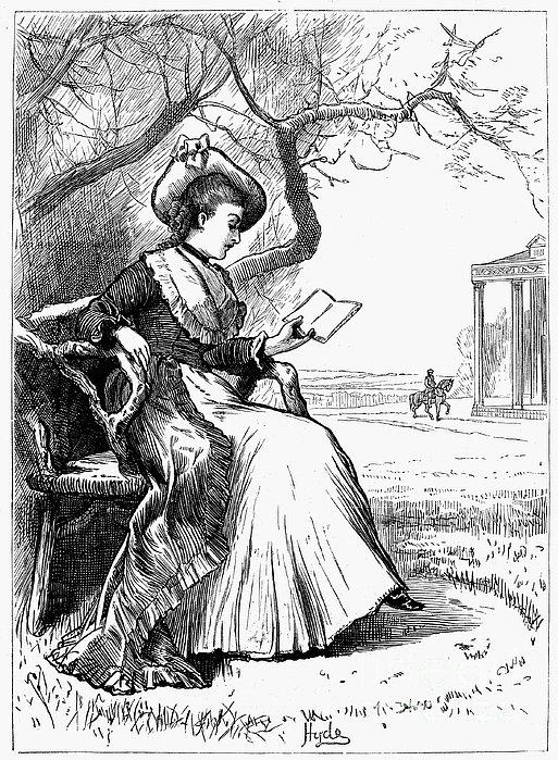 Woman Reading, 1876 Print by Granger