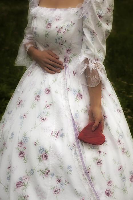 Woman With A Heart Print by Joana Kruse