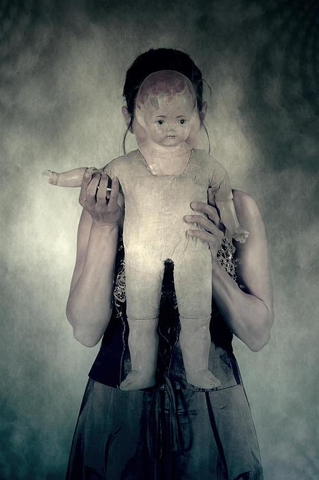 Woman With Doll Print by Joana Kruse