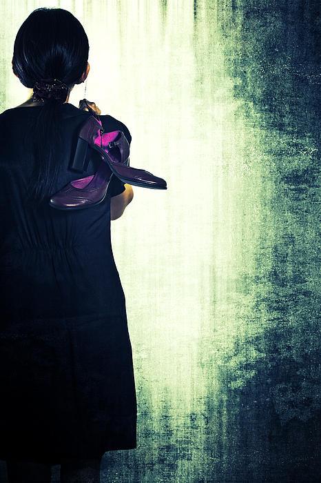 Woman With Shoes Print by Joana Kruse