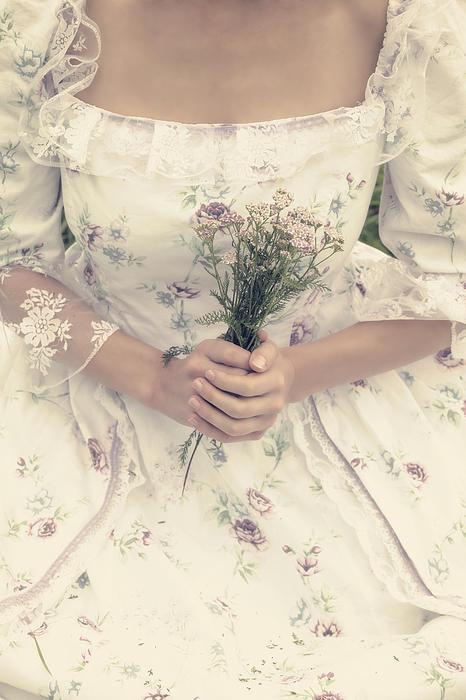 Woman With Wild Flowers Print by Joana Kruse