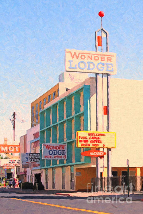 Wonder Lodge Print by Wingsdomain Art and Photography