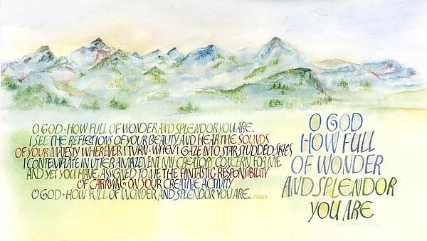 Wonder Splendor II Print by Judy Dodds