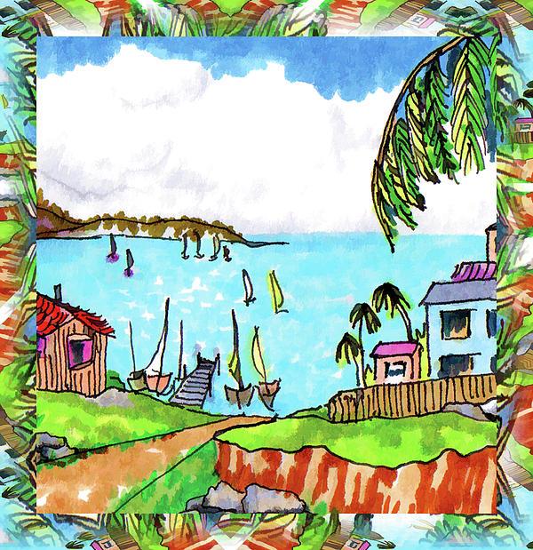 Wonderful Village Print by Margaret Wingstedt